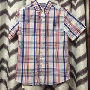 EUC boys Chaps SS buttondown dress shirt size med